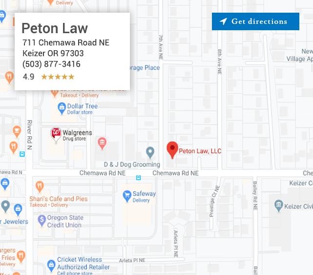 Peton Law location map