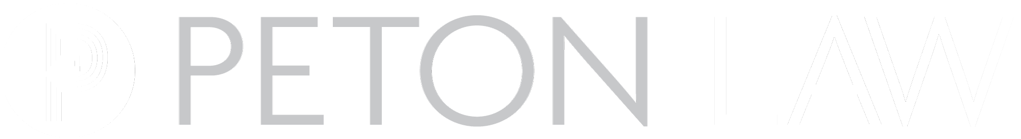 Peton Law Logo Reversed