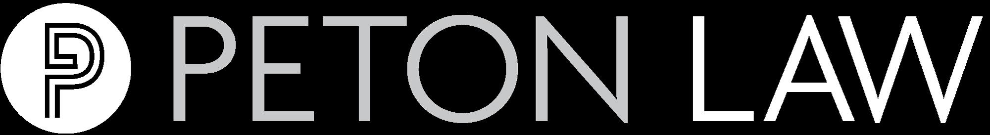 Peton Law Logo Reversed